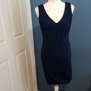 Nordstrom JS Collection navy blue dress. 8P